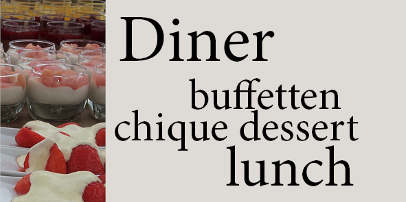 Catering lunch diner buffet